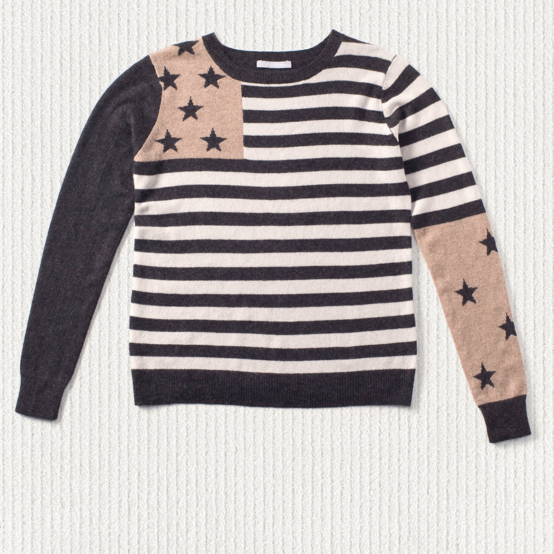 Stars and stripes sweater <span>100% cashmere</span>