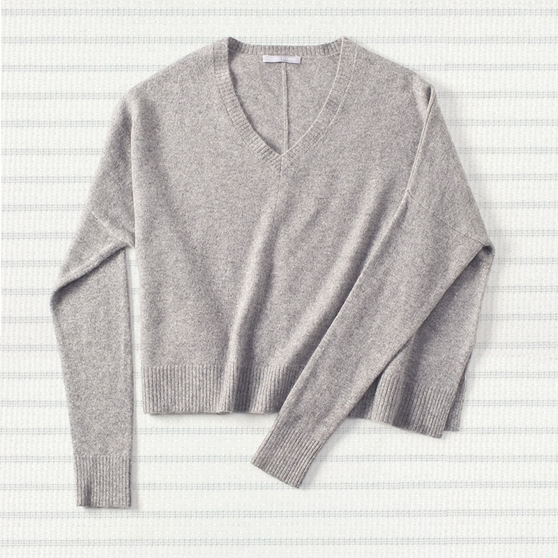 Slouchy sweater, <span>100% cashmere</span>