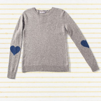 Heart sleeve sweater,  <span>100% cashmere</span>