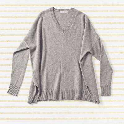 Longer slouchy sweater, <span>100% cashmere</span>