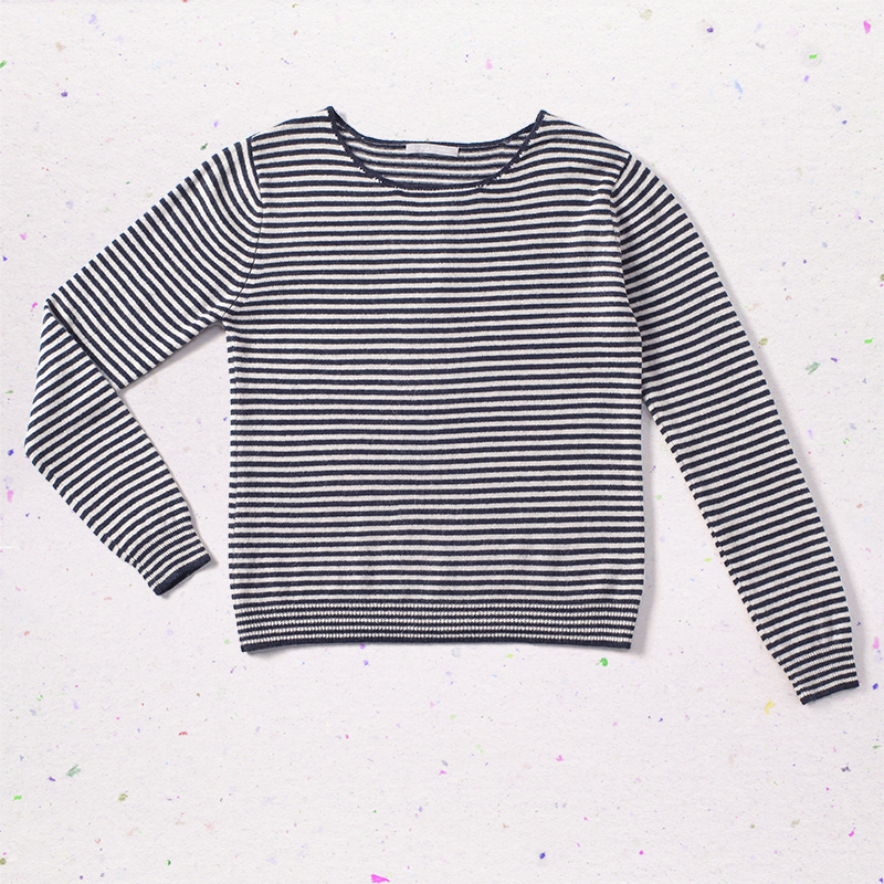 Stripes sweater, <span>100% cashmere</span>