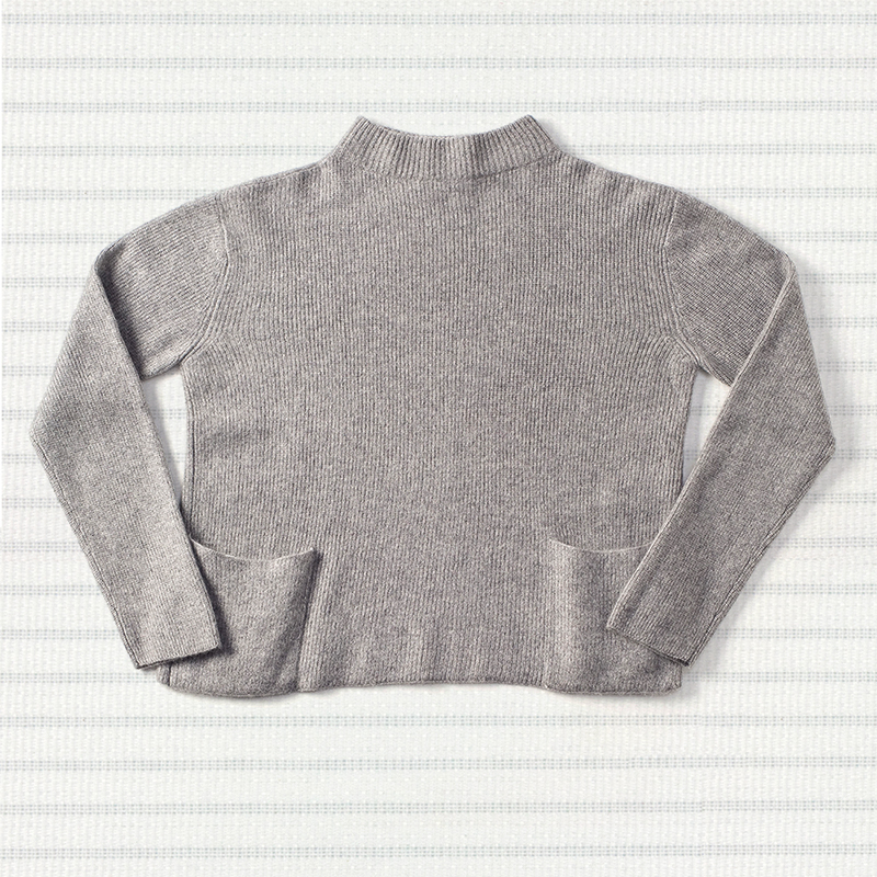 Rib pocket sweater, <span>100% cashmere</span>