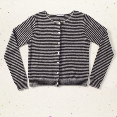 Stripes cardigan, <span>100% cashmere</span>