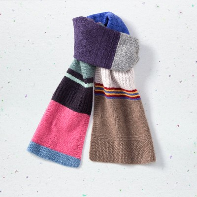 Multicolour scarf, <span>100% cashmere</span>