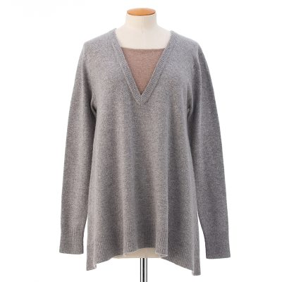 Neck inset sweater  <span>100% cashmere</span>