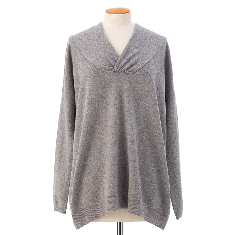 Stole collar sweater  <span>100% cashmere</span>
