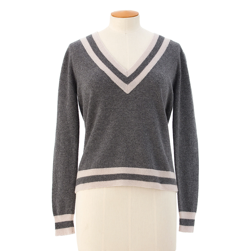 Two stripe sweater  <span>100% cashmere</span>
