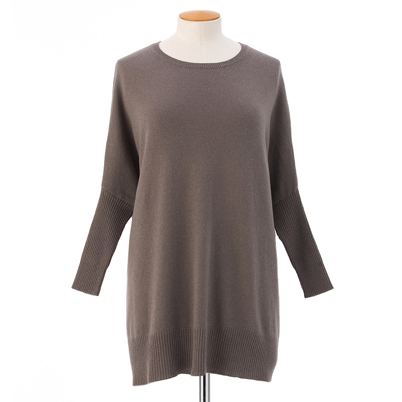 Boxy sweater narrow sleeves  <span>100% cashmere</span>