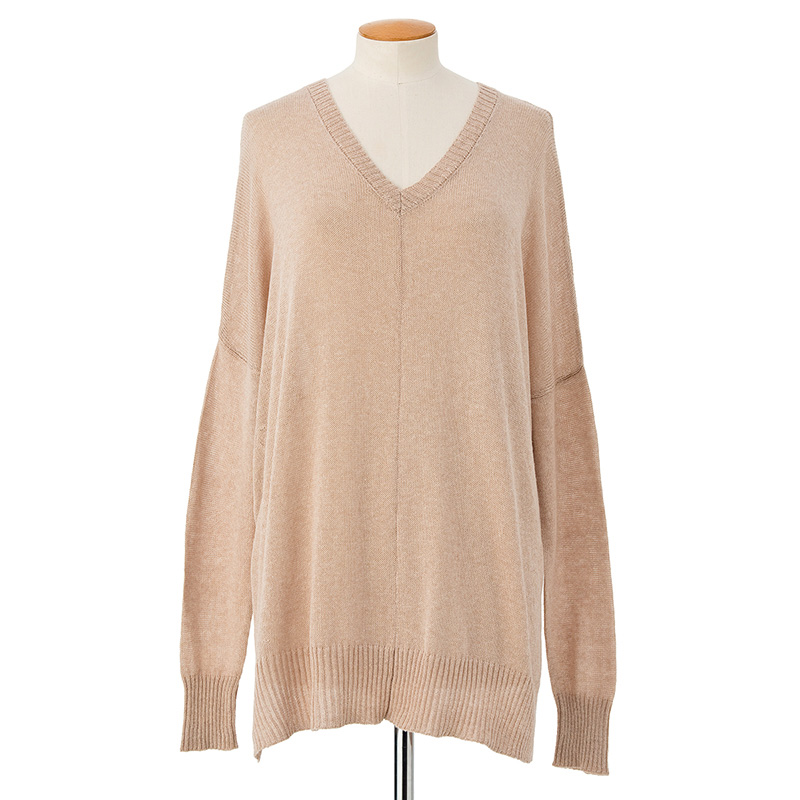 Longer slouchy sweater <span>cotton cashmere</span>