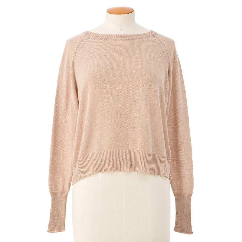 See-through cardigan <span>cotton cashmere</span>