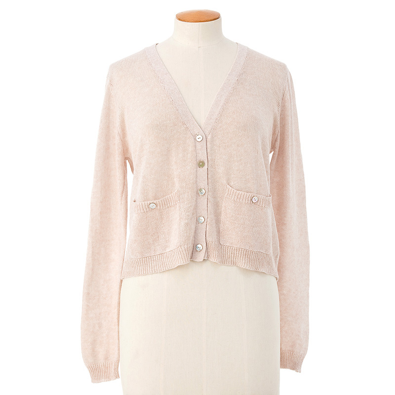 Shorter see-through cardigan <span>cotton cashmere</span>
