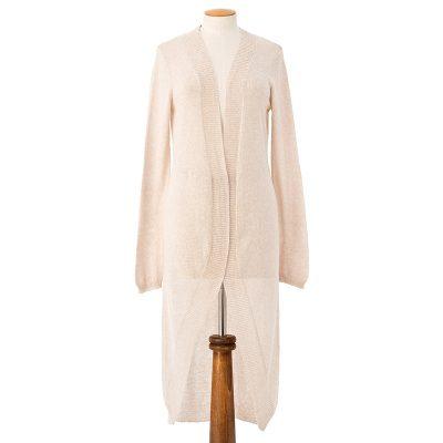 Swallow tail cardigan <span>cotton cashmere</span>