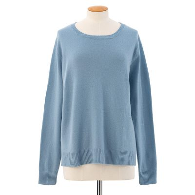 Scoop neck sweater<span>100% cashmere</span>