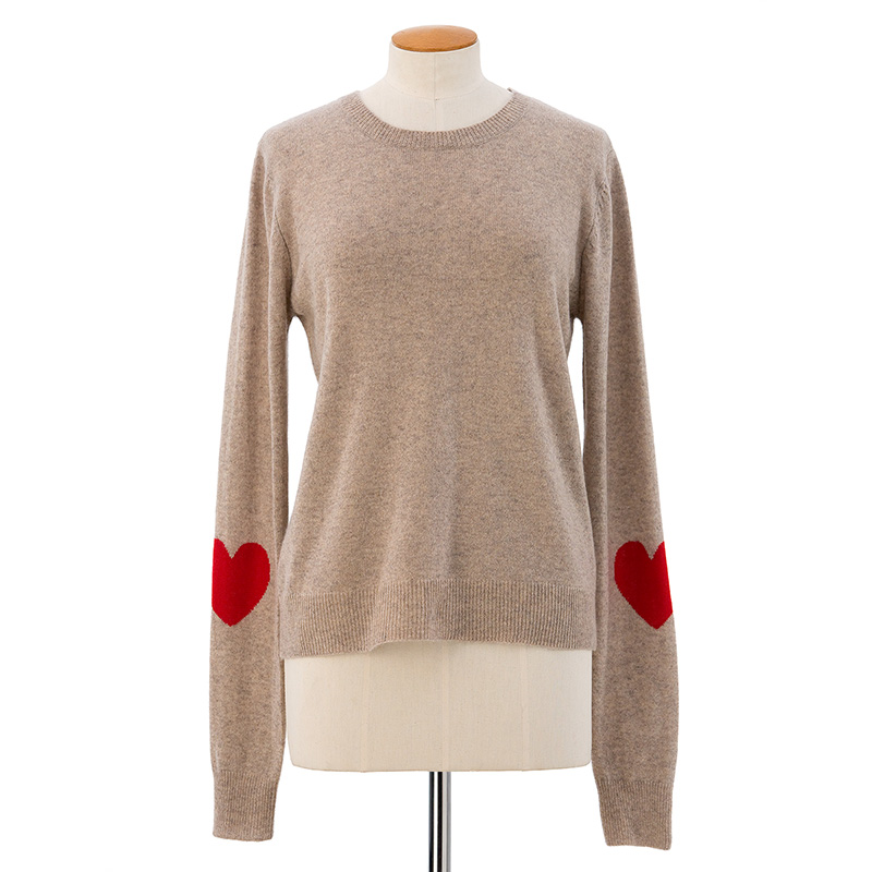 Heart sleeve sweater<span>100% cashmere</span>