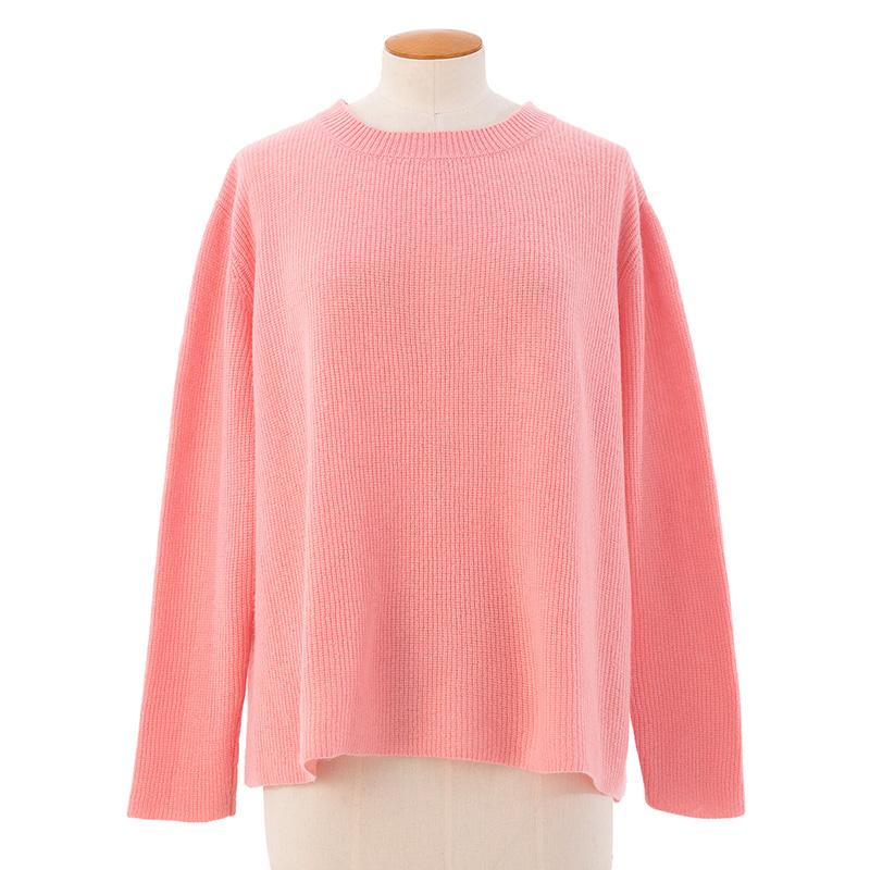 Long rib sweater<span>100% cashmere</span>
