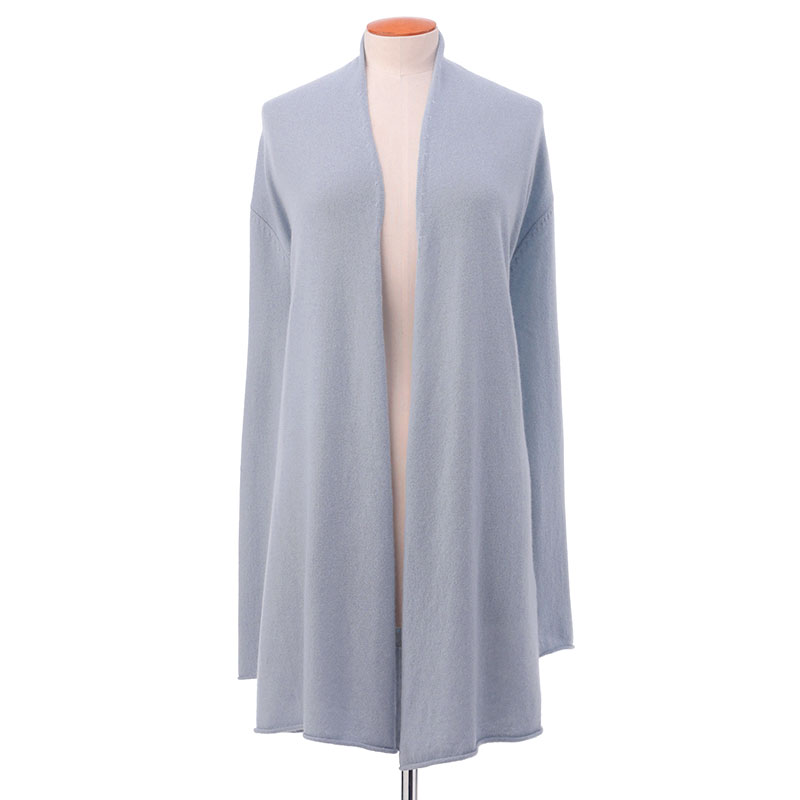 Long open front cardigan<span>100% cashmere</span>