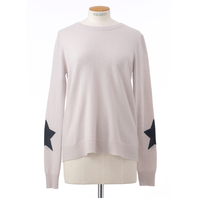 Star sleeve sweater<span>100% cashmere</span>