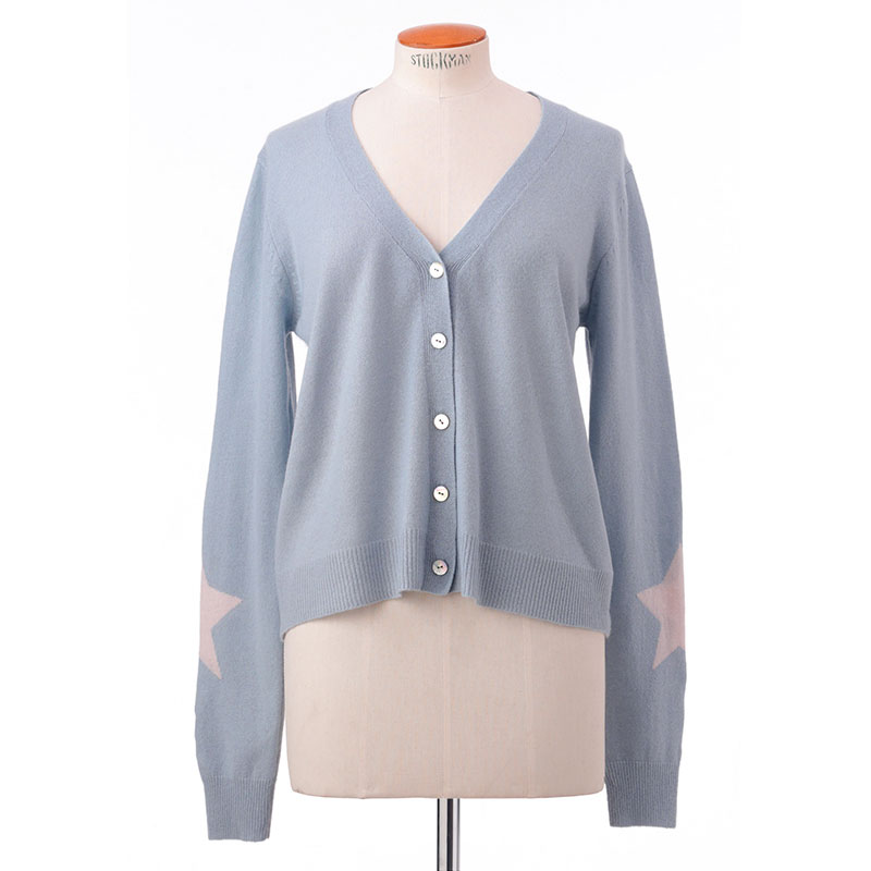 Star sleeve cardigan<span>100% cashmere</span>