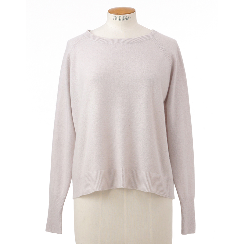Front rib sweater<span>100% cashmere</span>