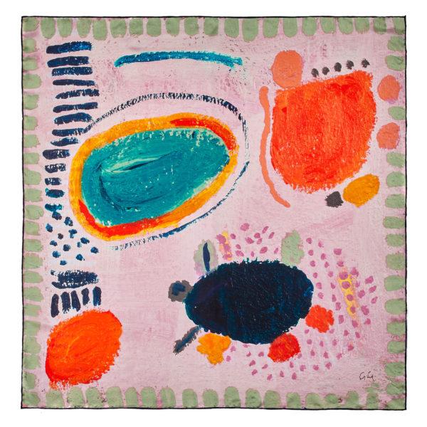 Pink Silk Designer Scarf