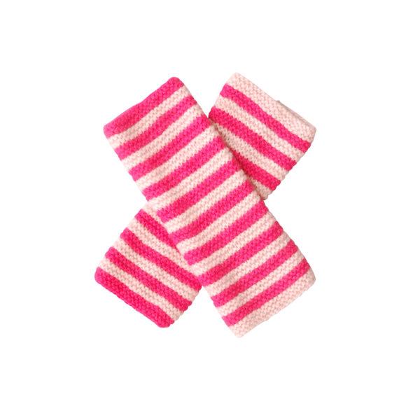 Pink raspberry wrist warmers