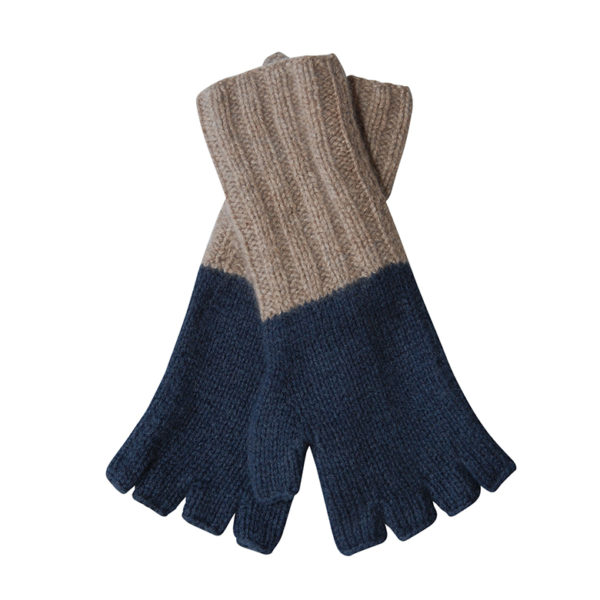 Otter blue cashmere gloves