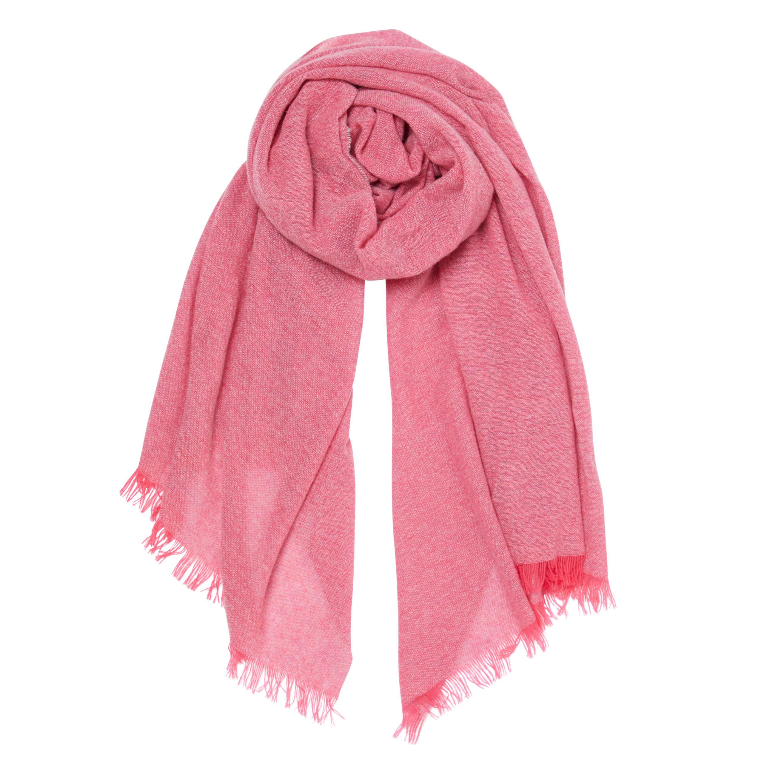 Fluffy grey cashmere scarf