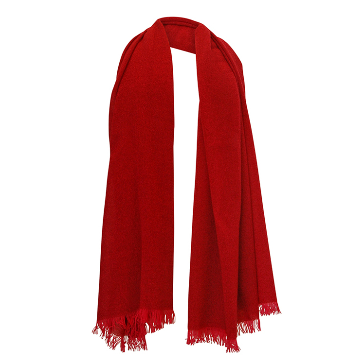 Ruby red cashmere scarf